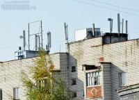 базовая станция на крыше жилого дома