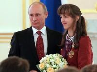 Трехкратная паралимпийская чемпионка Елена Иванова на приеме у Владимира Путина в Кремле
