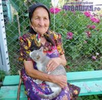 бабуля с кошкой