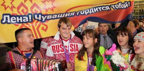паралимпийцы Елена Иванова и Владимир Свиридов