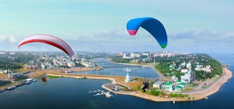 чебоксары с высоты Фото В. Тимофеева