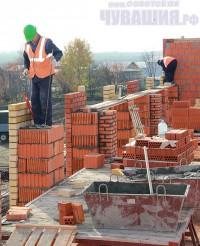 Строительство детского сада в селе Токаево Комсомольского района. <br> Фото Л. ДАНИЛОВОЙ