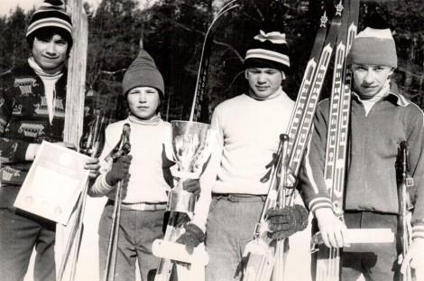 Чемпионат республики по лыжным гонкам (80-е годы).