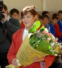 Воспитанница республиканской СДЮШОР Эдера Лаврентьева.
