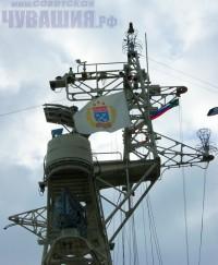 На мачте флаг Чебоксар <br> Фото А. СОЛОВЬЕВА