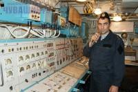 Машинное отделение сторожевого корабля <br> Фото А. СОЛОВЬЕВА