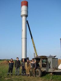 В Моргаушском районе установлена новая водонапорная башня.