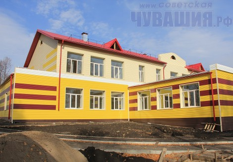 Строительство детского сада в Шемурше