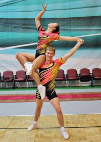 Валерия Архипова и ее партнер Алексей Германов.  <br> Фото с сайта Минспорта Чувашии.