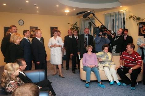 В.В. Путин. Перинатальный центр, Чебоксары. 12.09.2007 г.