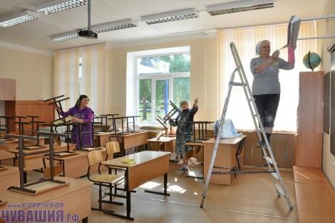 ремонт в классе школе