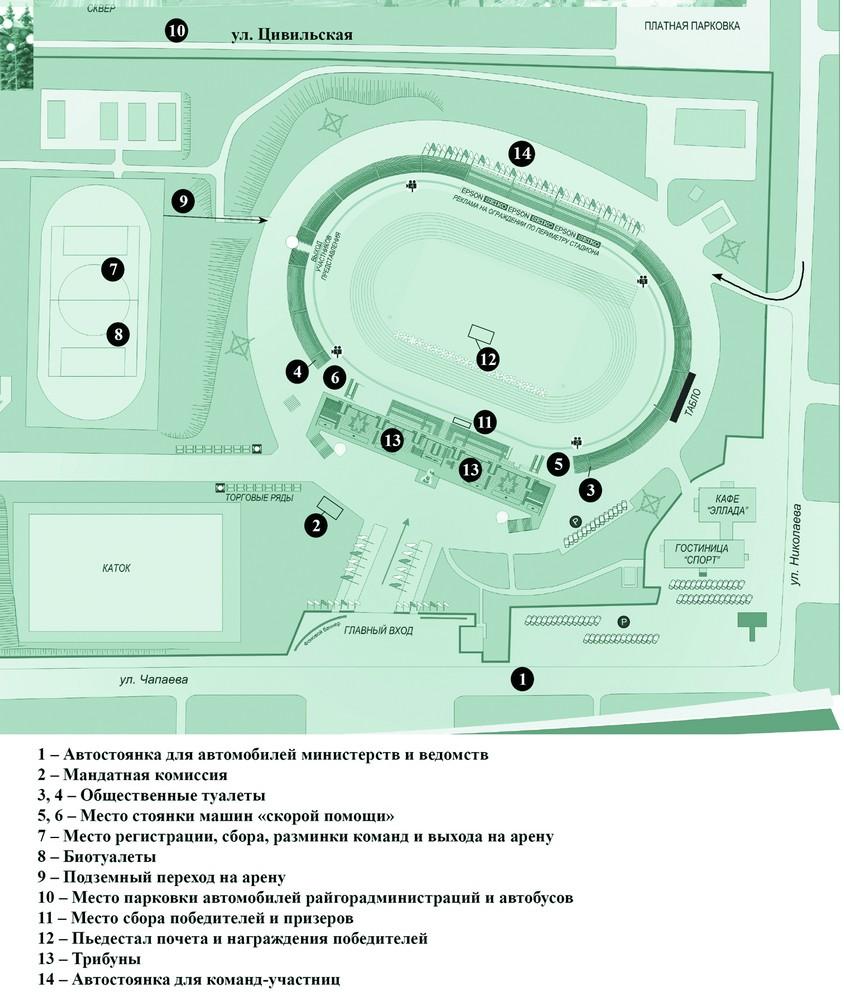 схема стадиона олимпийский.