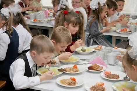 школьная столовая обед
