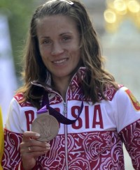 Bronze medallist Tatyana Petrova Arkhipo