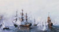 «Роченсальмское сражение», картина Всеволода Петрова-Маслакова.