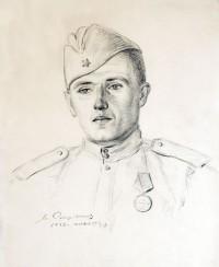 Спиридонов М.С. Портрет сына Геннадия. 1943.