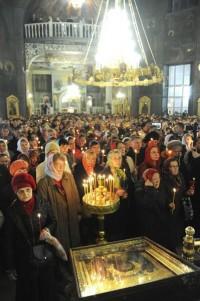 Праздничная служба в Покровско-Татианинском соборе