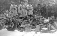 Декабрь 1941 года. В боях под Москвой было захвачено немало вражеских трофеев.