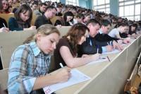 В прошлом году диктант писали в новом корпусе филфака ЧГУ имени И.Н. Ульянова. Фото Максима ВАСИЛЬЕВА