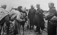 Белоруссия. 1944 год. Бобруйское направление. Первая встреча с воинами-освободителями.