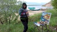 Художники начали работу с Государевой горы.Фото со страницы в фейсбуке Елены БАЙМЯШКИНОЙ
