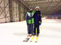 Снега под крышей для девушек из России оказалось достаточно. Лана Прусакова на фото слева. Фото ffr-ski.ru
