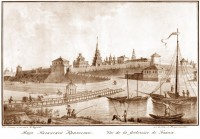 Крепость со стороны Казанки. Литография из альбома Андре Дюрана.