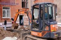 В доме по улице Гайдара в Чебоксарах капитальный ремонт идет полным ходом. Фото Никиты ПАВЛОВА