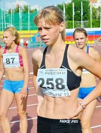 Юная Марина Сизова после забега. Фото cap.ru