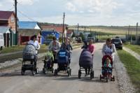 Первыми опробовали дорогу мамы с малышами.Фото с сайта cap.ru