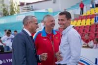 Тренерам сборной России есть что обсудить с министром спорта Чувашии Сергеем Мельниковым.Фото Максима ВАСИЛЬЕВА