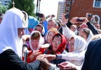 Для верующих визит Патриарха – большой праздник.Фото из архива редакции