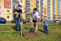 Мама, папа, я сажаем деревца.Фото из архива ООО «СУОР»