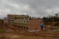 Строящийся биатлонный центр.