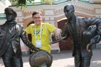 Москвич Алексей Лебедев одним из первых подал заявку в волонтеры на чемпионат по спортивной ходьбе. Алексей уже работал добровольцем в Чебоксарах этим летом на чемпионате Европы по легкой атлетике.