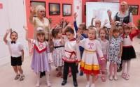 «Подготовишки» для телемоста выучили стихи, песни и даже новые игры.Фото cap.ru