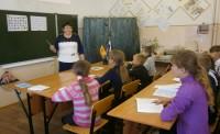 Первый урок чувашского языка в Масляногорской школе.