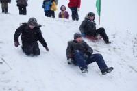 В селе Климово нашли подходящую горку для снежных забав