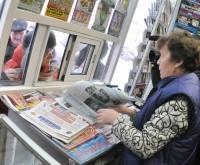 На прилавках киосков «бумажная» пресса не залеживается.Фото Олега МАЛЬЦЕВА из архива редакции