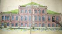 Проект расширения здания Чувашского областного суда. Начало 1920-х годов. Архитектор В.Н. Александров.