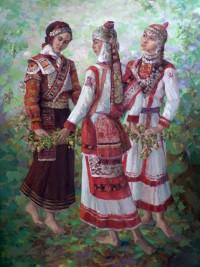 Чувашские красавицы – музы художника.