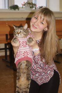 Тринадцатилетний кот Путя Анастасии Обуховой признан самым интеллектуальным.