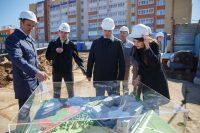 Новая чебоксарская школа даже на макете выглядит суперсовременной. Фото Максима ВАСИЛЬЕВА