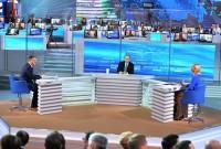 «Прямая линия» продолжалась 3 часа 40 минут, за это время глава государства ответил почти на 80 вопросов.Фото kremlin.ru
