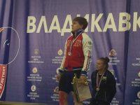 Наталья Хлесткина на пьедестале почета во Владикавказе