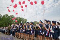 С шариками юные кадеты отпустили свои мечты и желания на свободу. Фото Максима ВАСИЛЬЕВА
