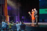 Лучшая актриса ЧМКФ-2016 Мария Коровина пожелала фестивалю стать номером один в мире кино.Фото Максима ВАСИЛЬЕВА