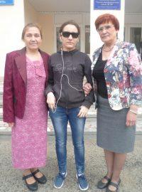 Хорошо, когда есть такая поддержка! С учителями Ниной Варганешевой и Галиной Шайкиной.Фото автора