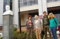 Потомки Таланцева побывали и в Национальной библиотеке. Фото cap.ru