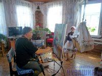 Сельчане охотно соглашались позировать художникам. Фото Ольги КАЗАКОВОЙ